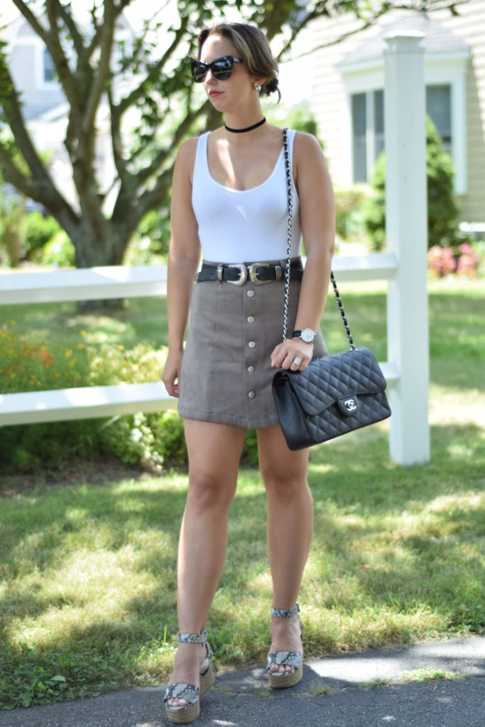 A Western Element-skirt-belt-fashion