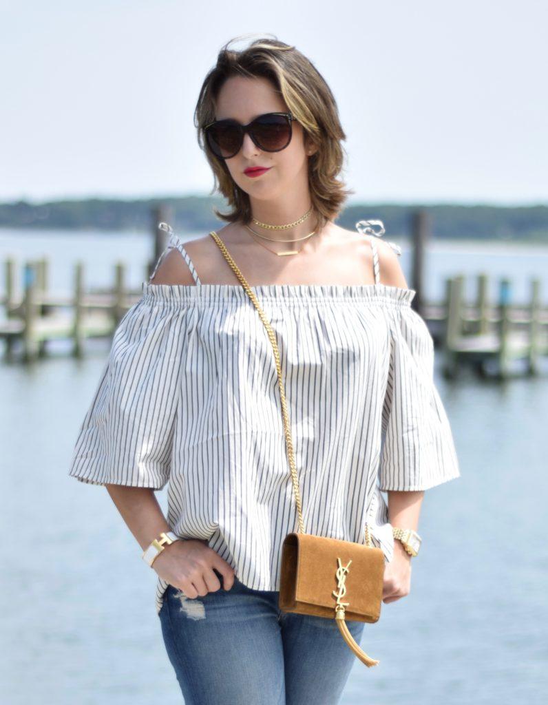 fashion-blogger-saint laurent- off the shoulder
