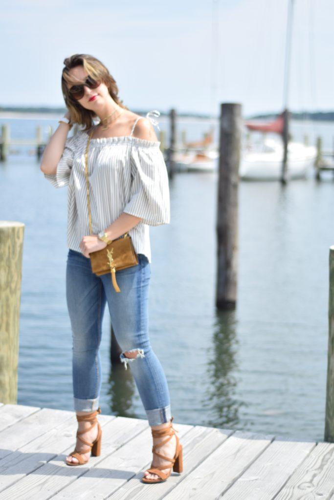 saint laurent-striped blouse-trendy-style