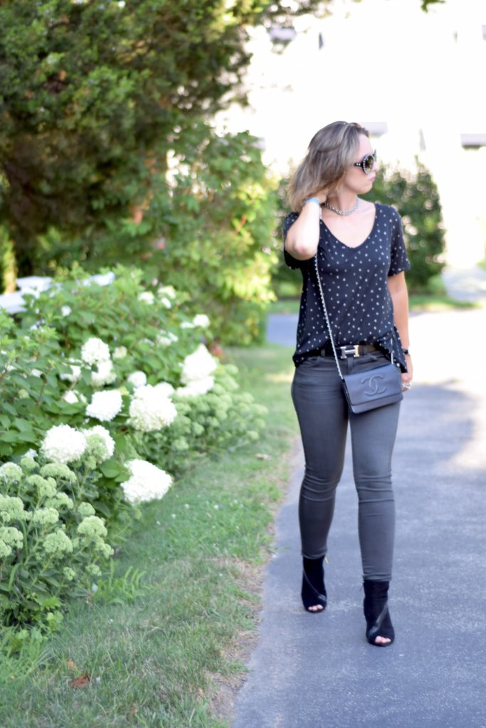star t-shirt- skinny jeans-j brand-chanel