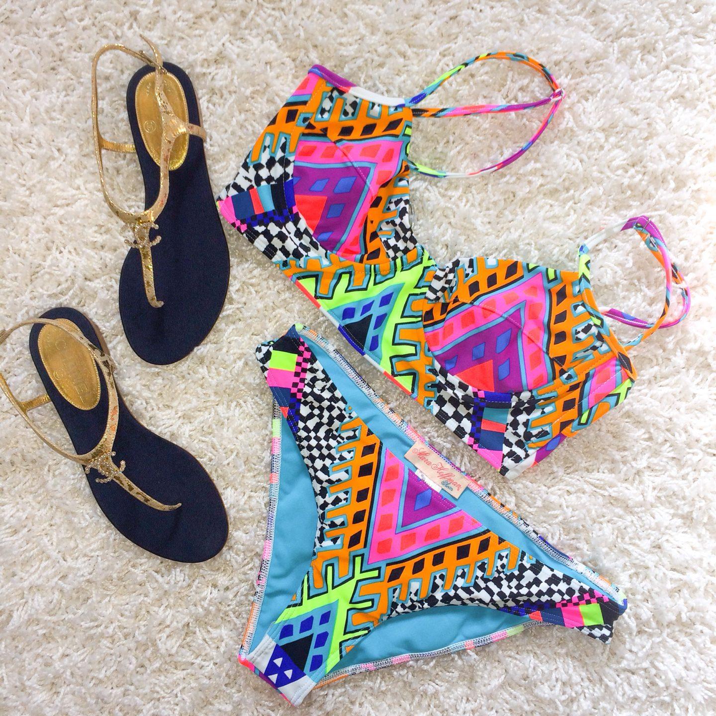 mara hoffman bikini-chanel sandals