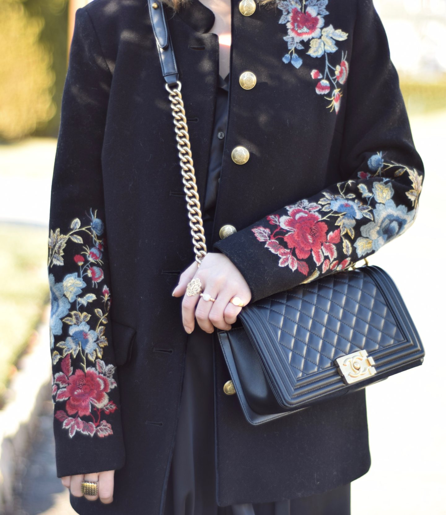 embroidered-coat-gold-buttons-floral-style