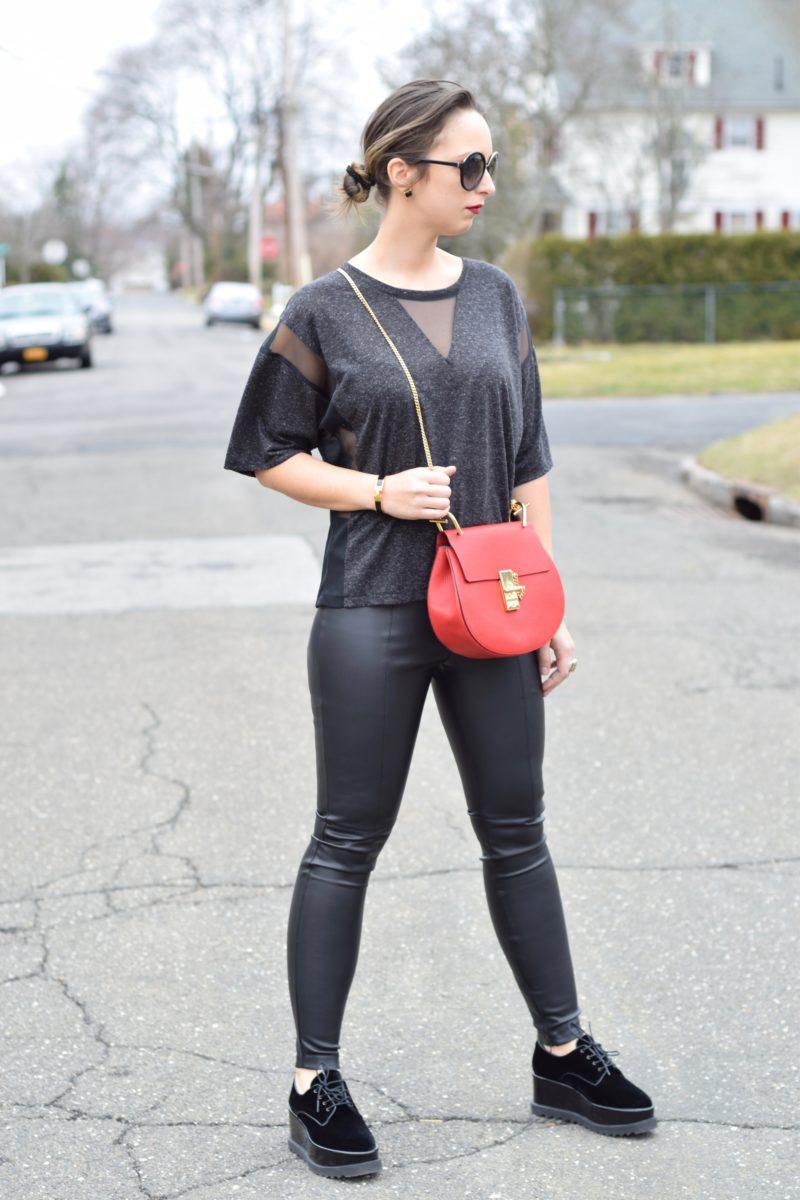 337 brand-t shirt-leather pants