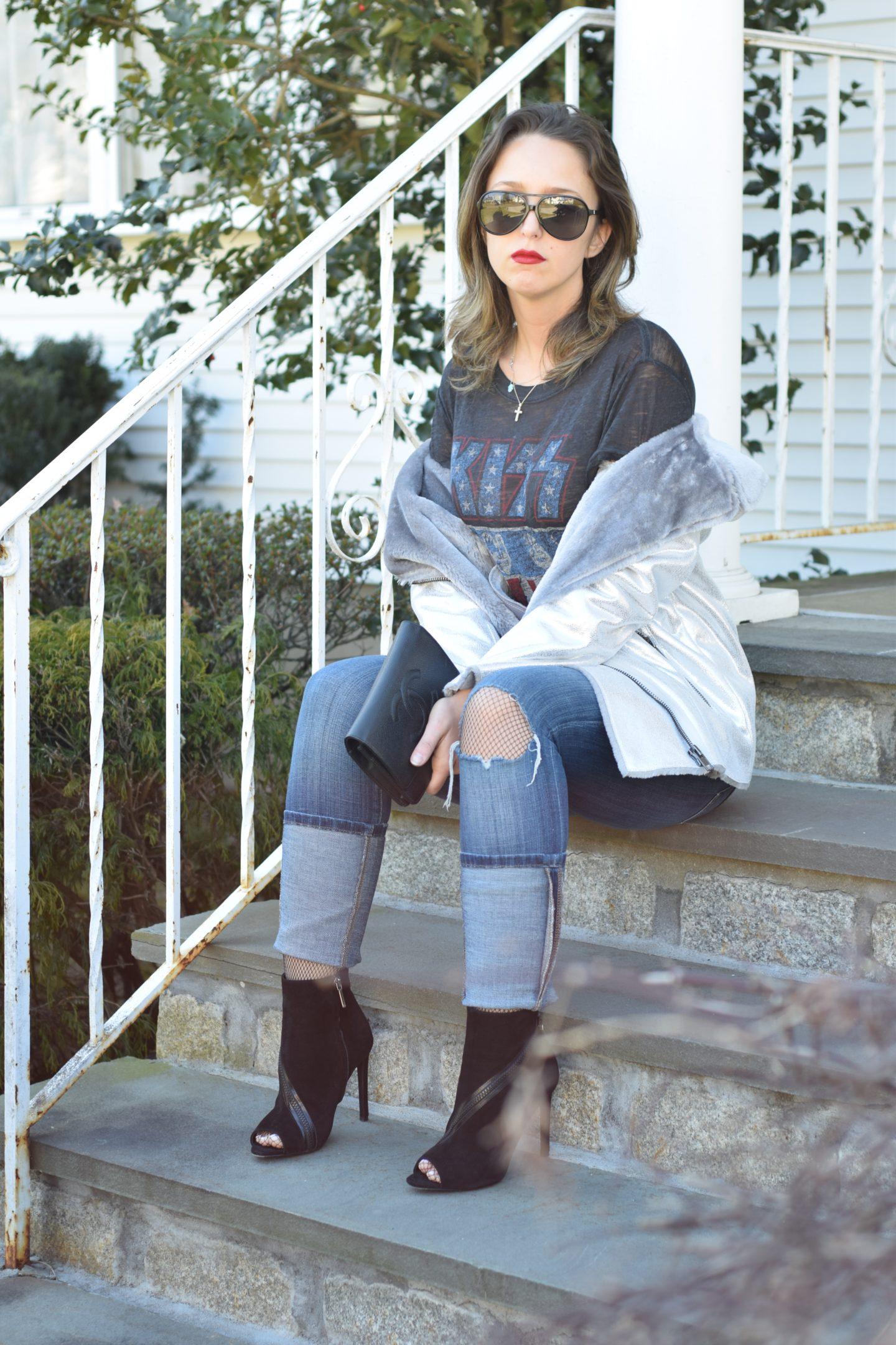 outfit-metallic jacket-asos-style