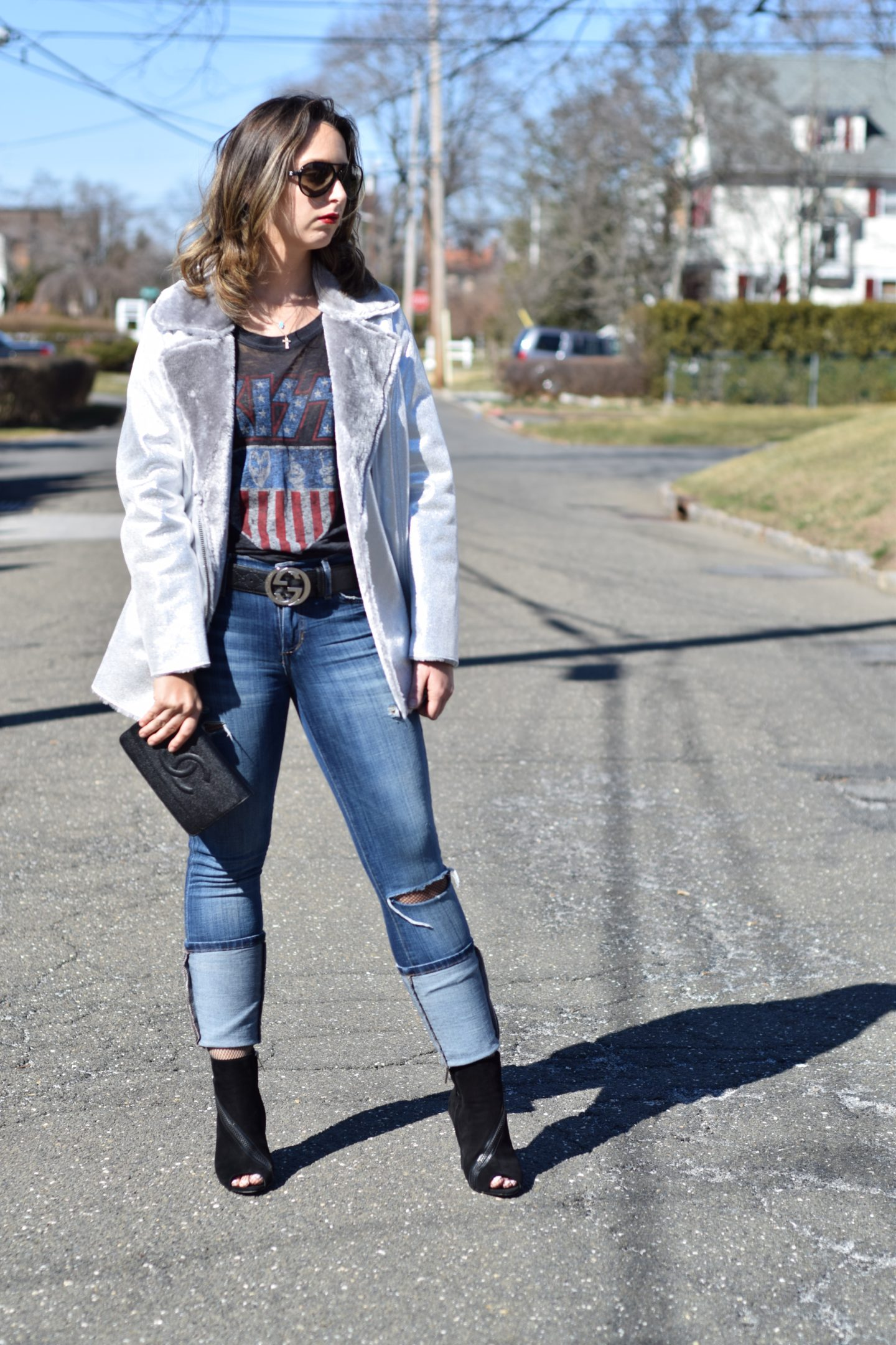 silver jacket-asos-band tee-outfit