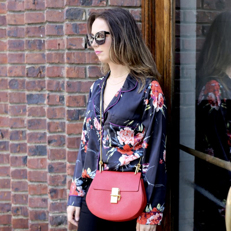 floral pajama blouse-style-new york