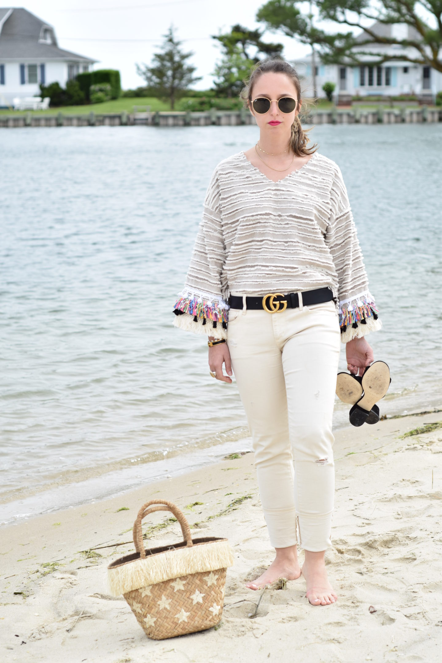beach-style-outfit-gucci belt