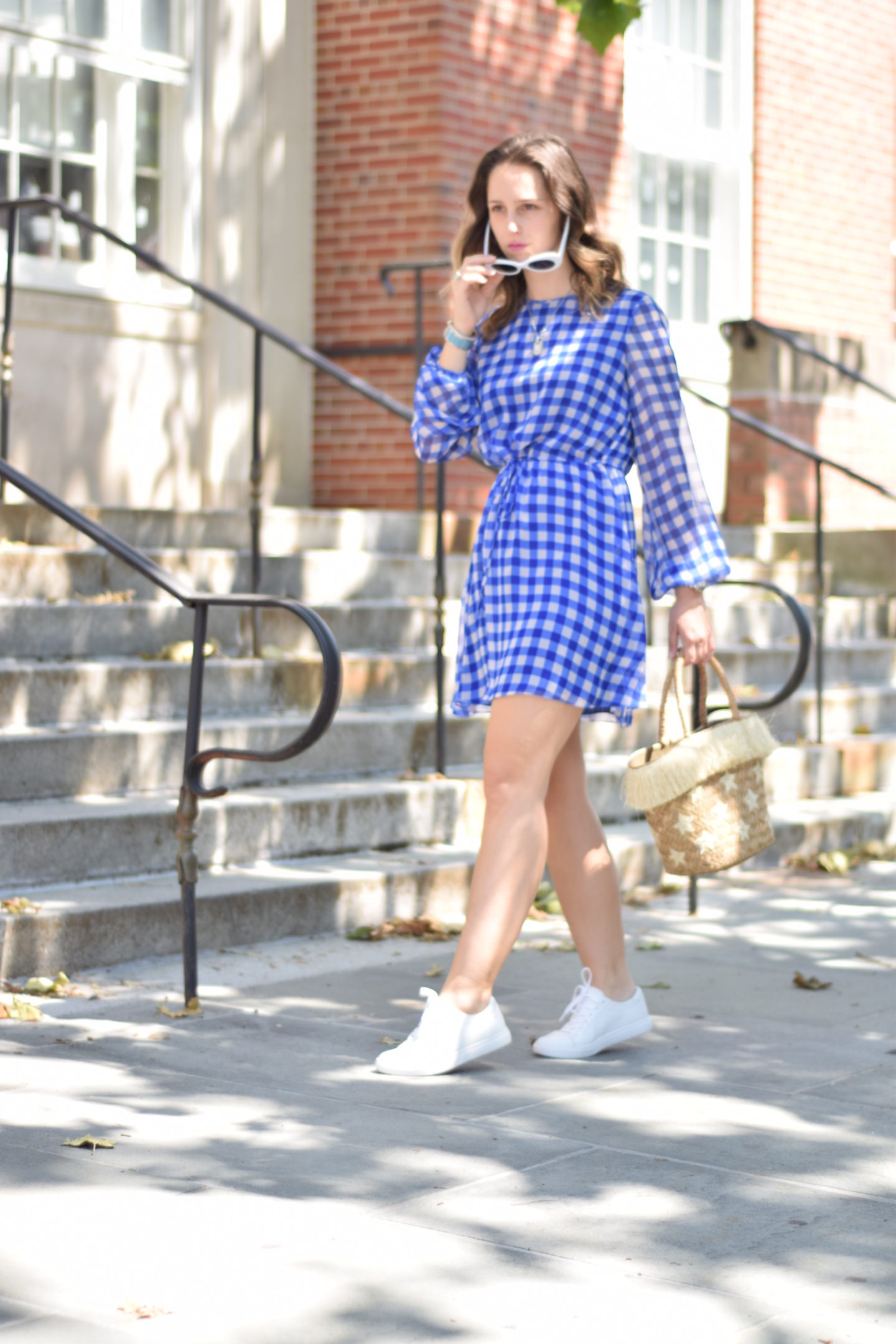 dvf-gingham dress-style-outfit