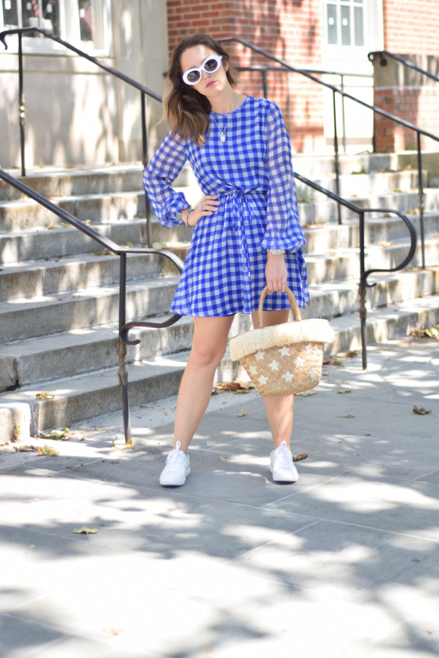 dvf-summer style-gingham dress