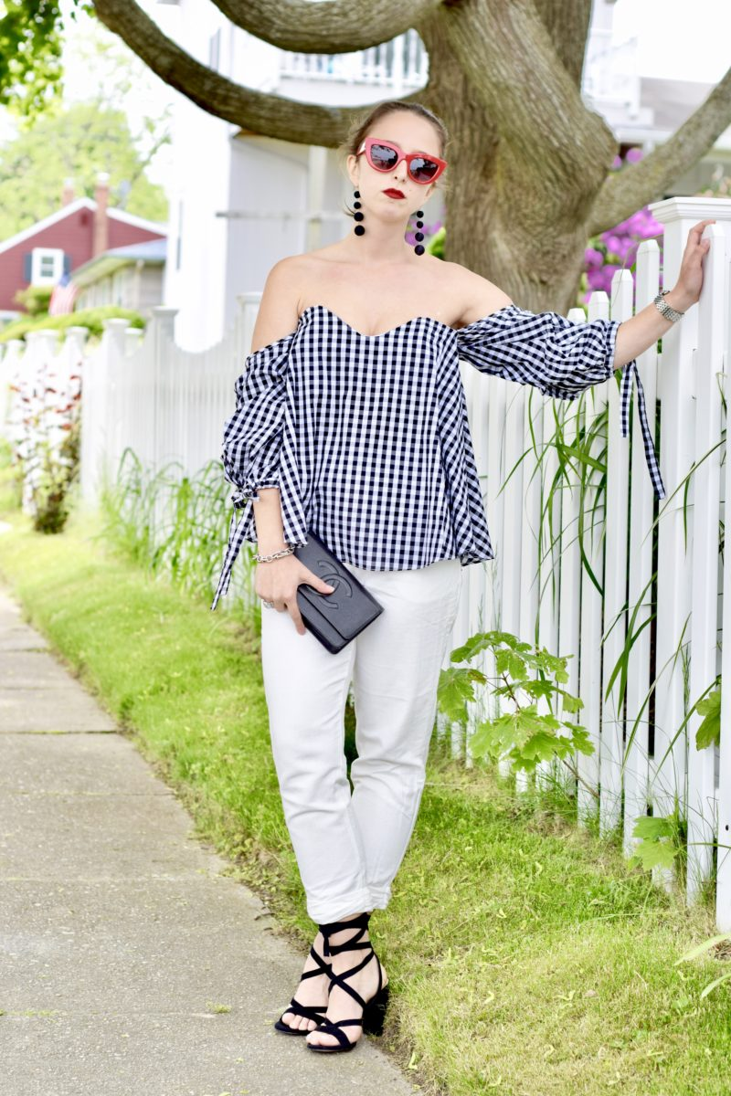 gingham top-simply by simone-summer style