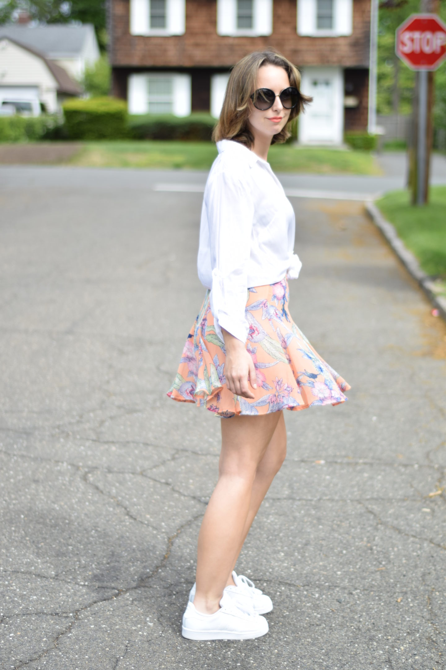 floral skirt-outfit-blogger-style