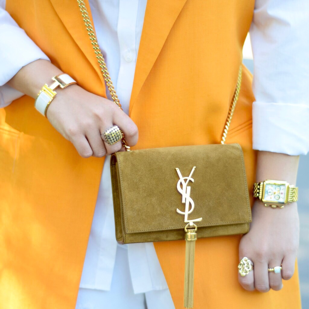 incorporating color-orange vest-style-zara