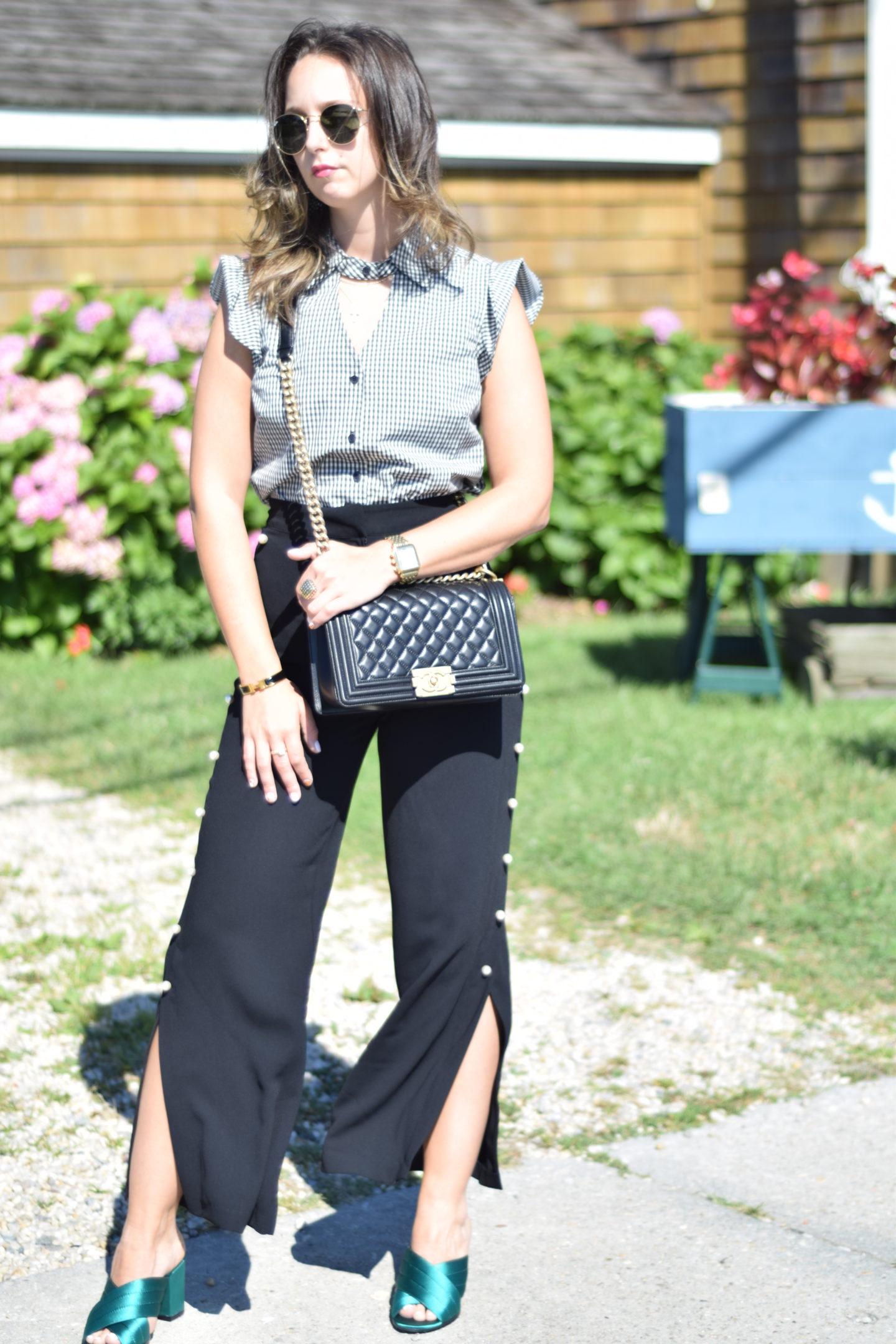 marled-gingham top-fashion-style