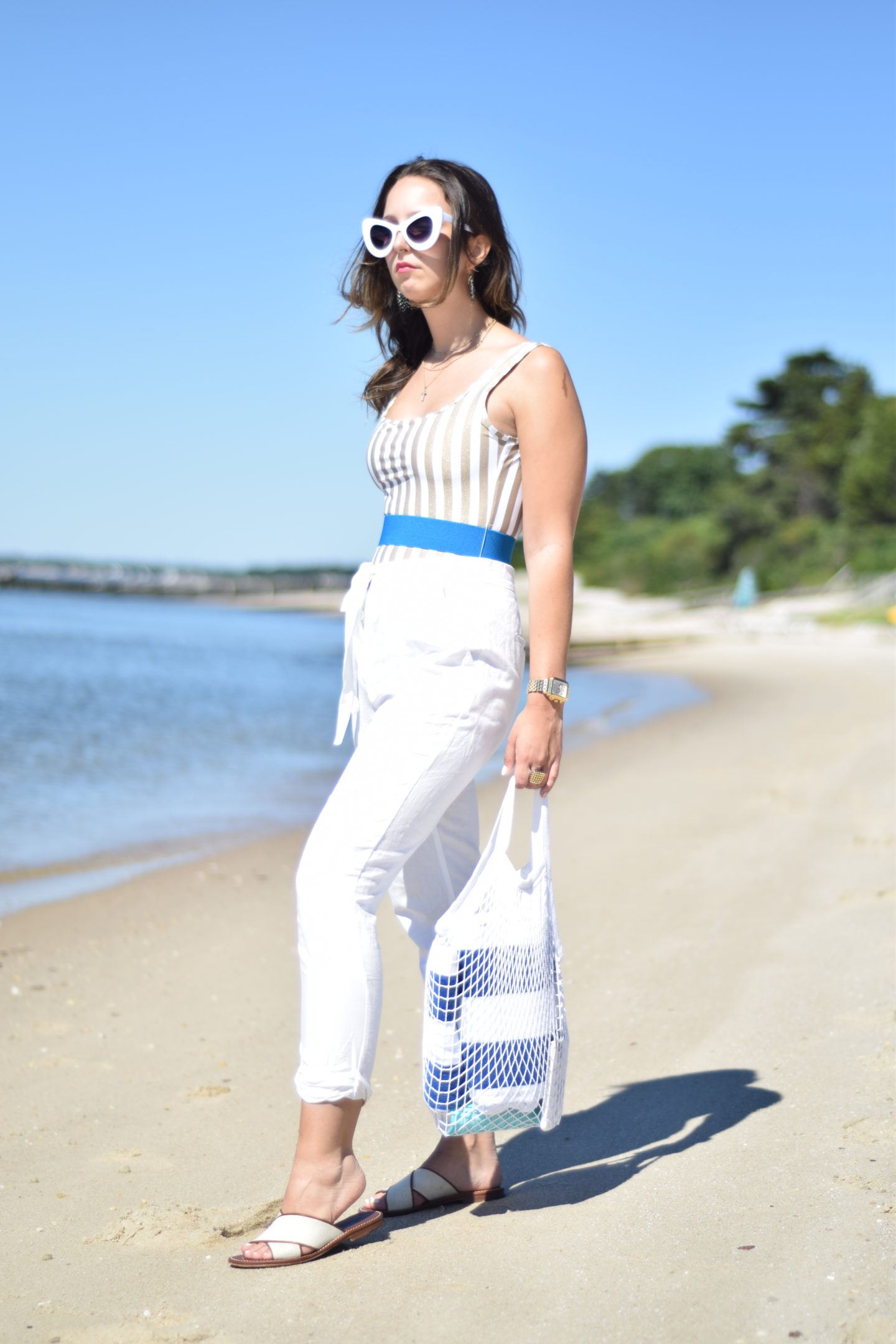 retro style-summer-linen pants-outfit