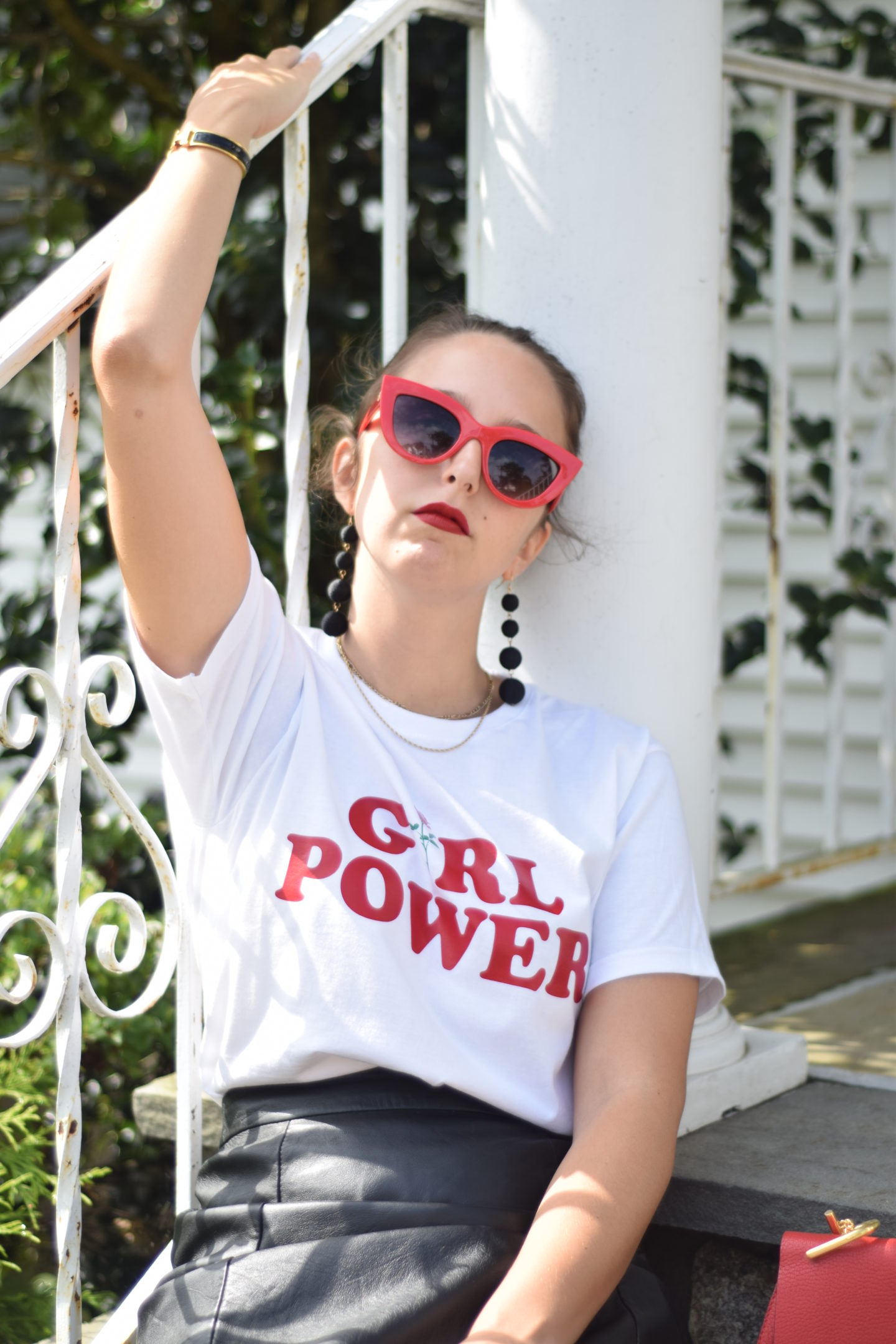graphic tee-girl power-rose-style