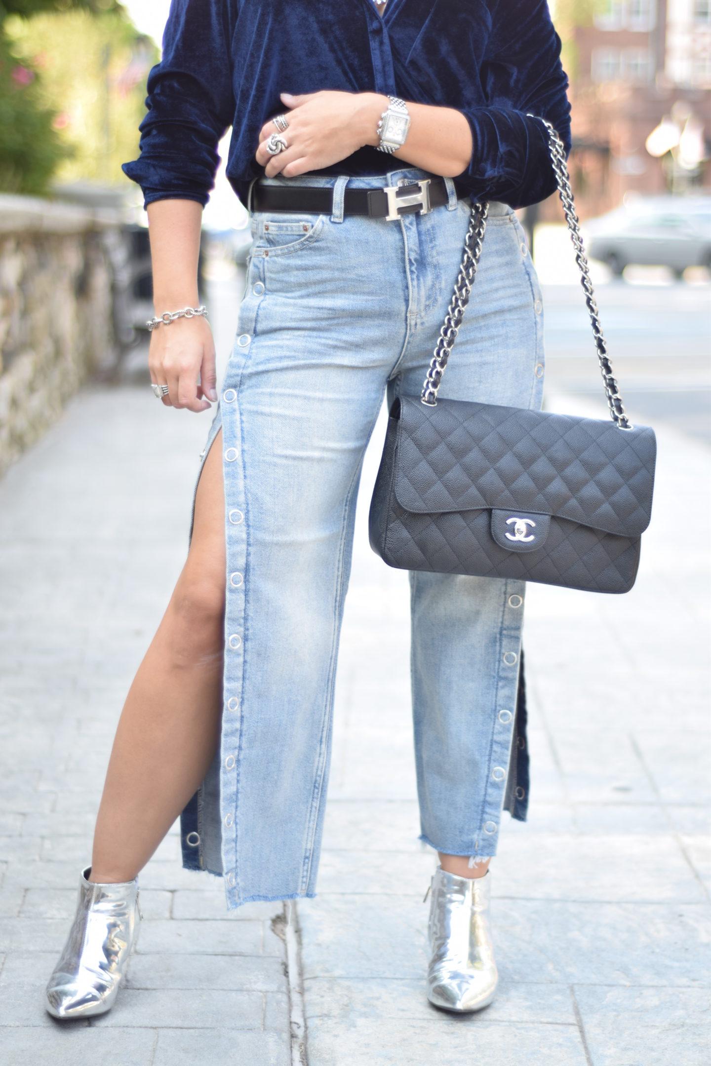 Fashion-Topshop-Street Style-Chanel Bag-Hermes Belt