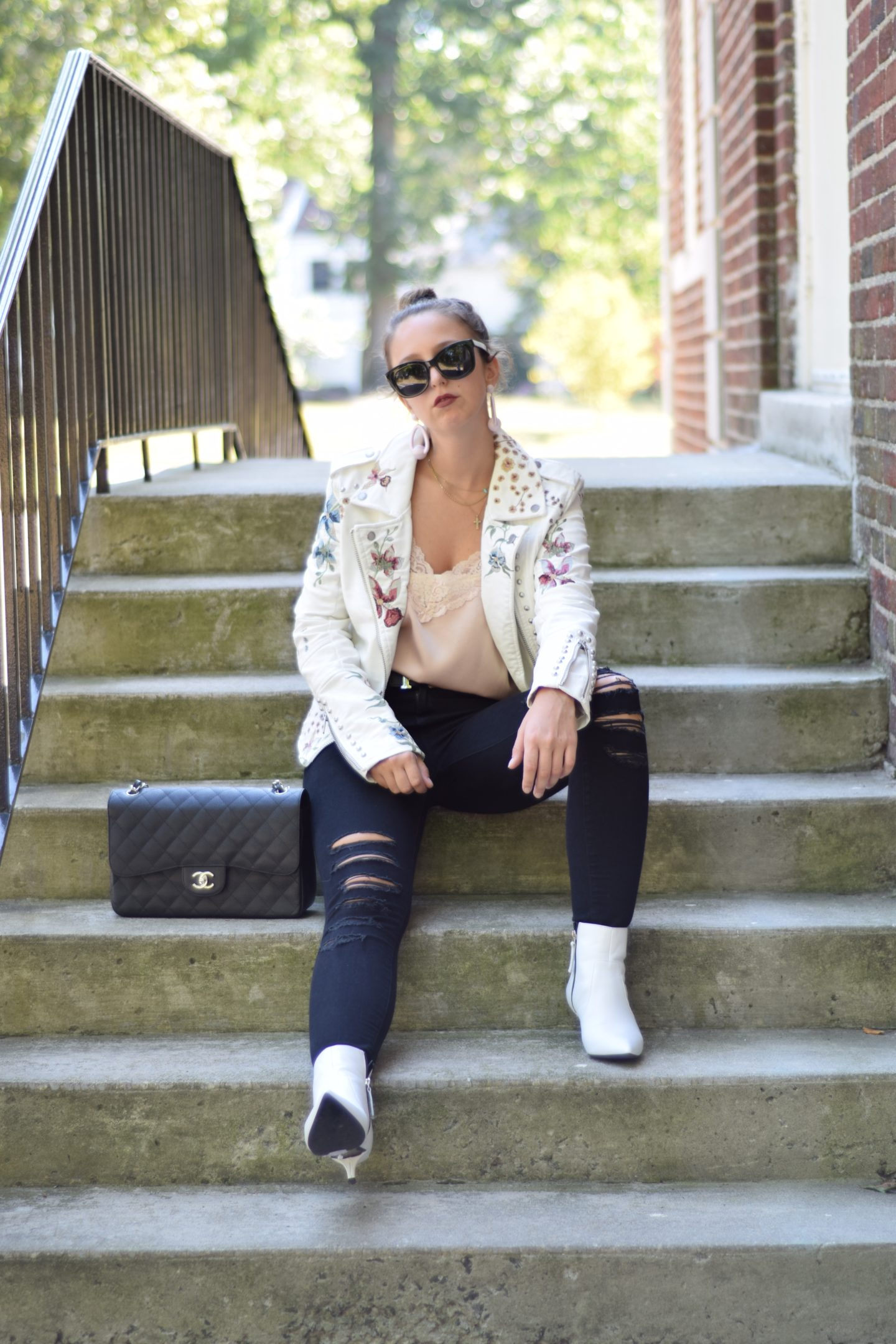 outfit-street style-floral jacket-fall 2017