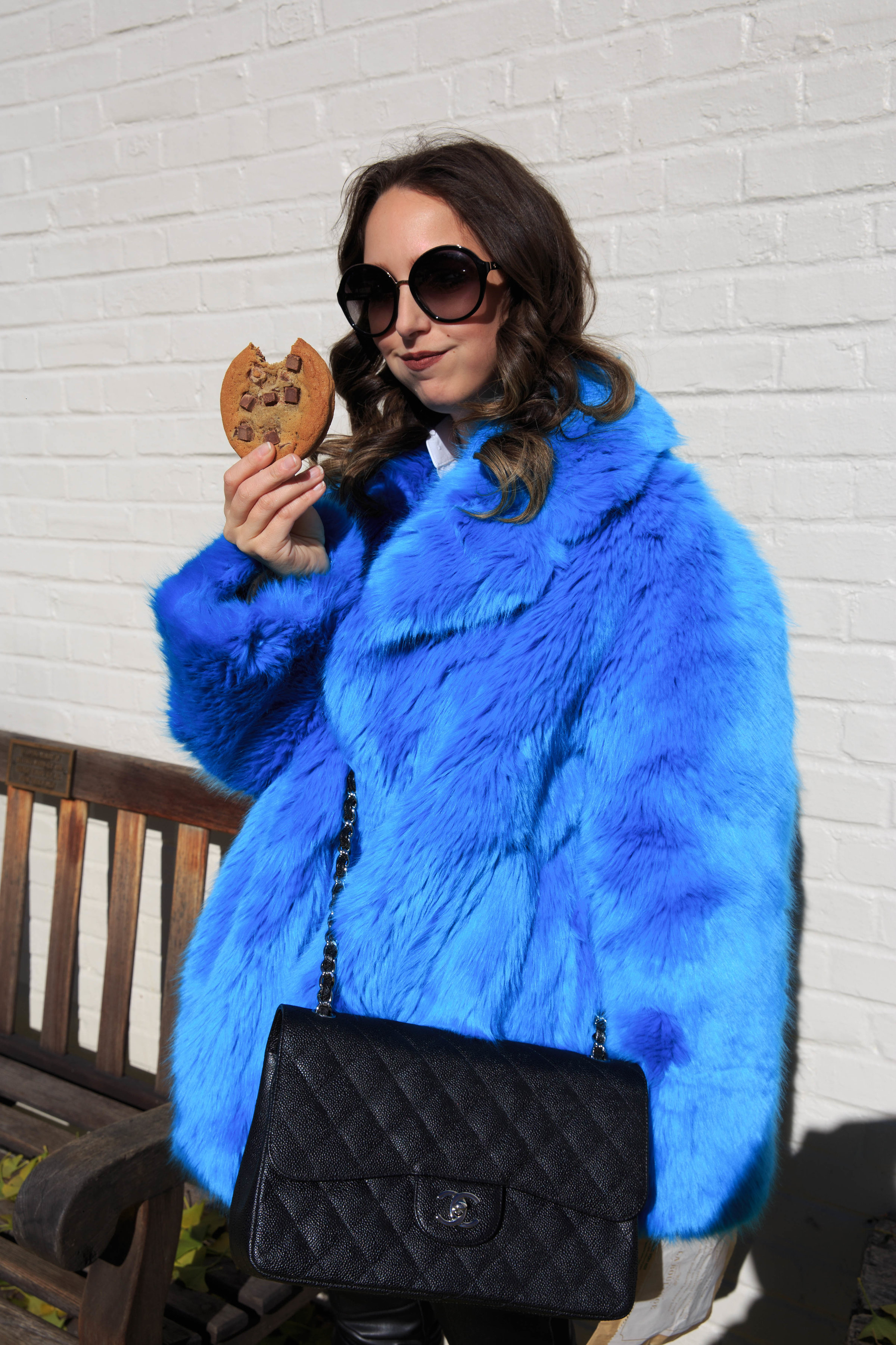 faux fur coat-street style-fashion-new york-2017-winter-outfit-dvf-leather pants-zara-chanel