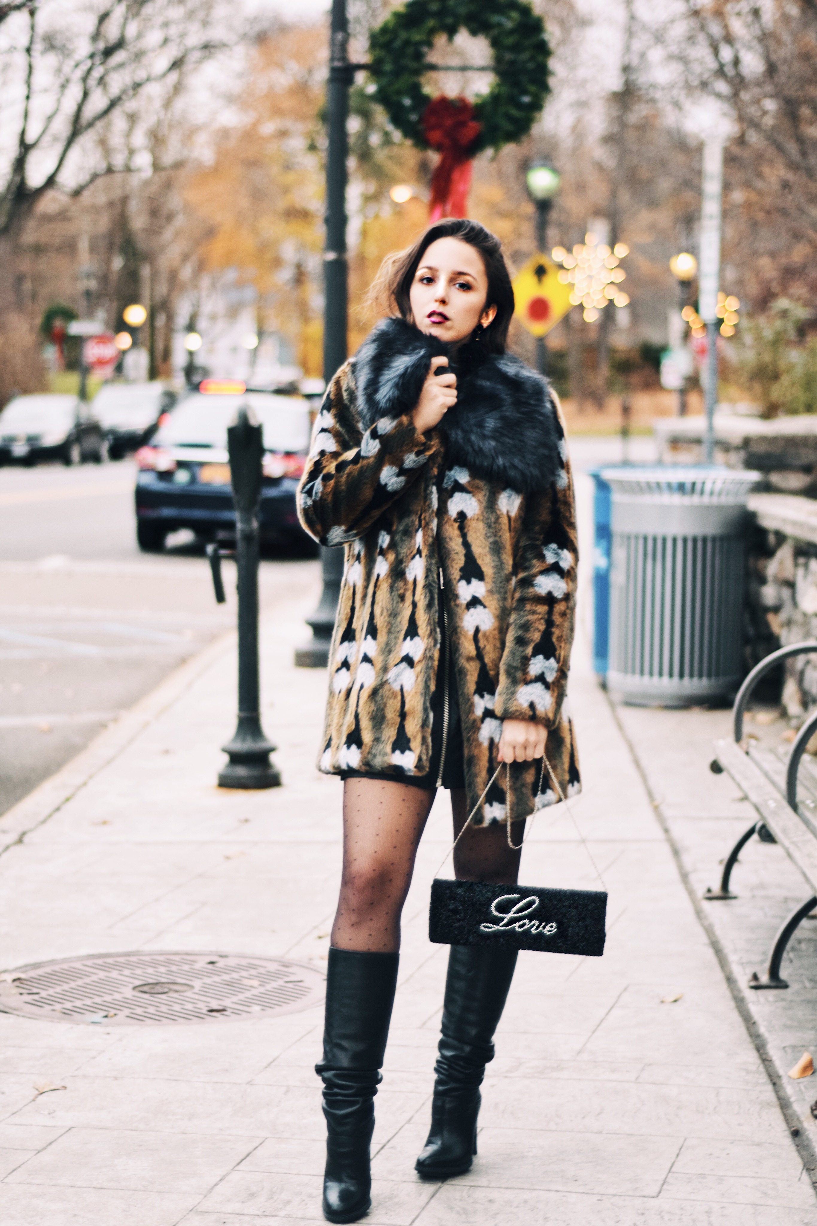 island to east side-clutch-unreal fur-style-outfit-blogger-love clutch-beaded-lace-new york