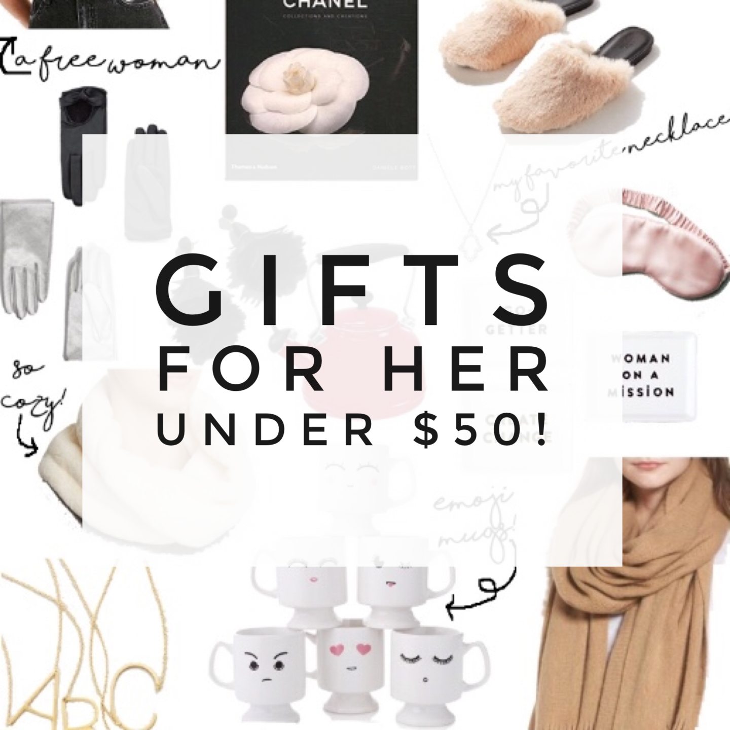 Holiday Gifts for Her Under 50 Dollars