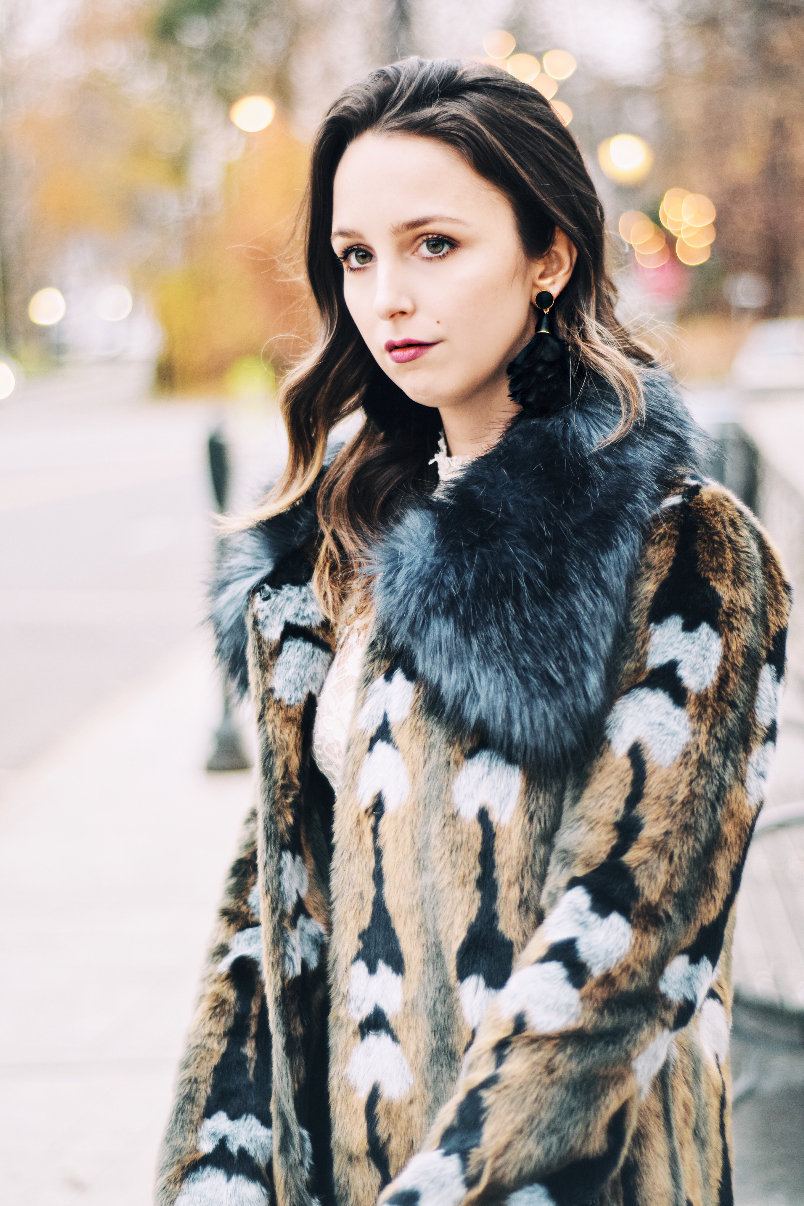 island to east side-clutch-unreal fur-style-outfit-blogger-love clutch-beaded-lace-new york-bauble bar