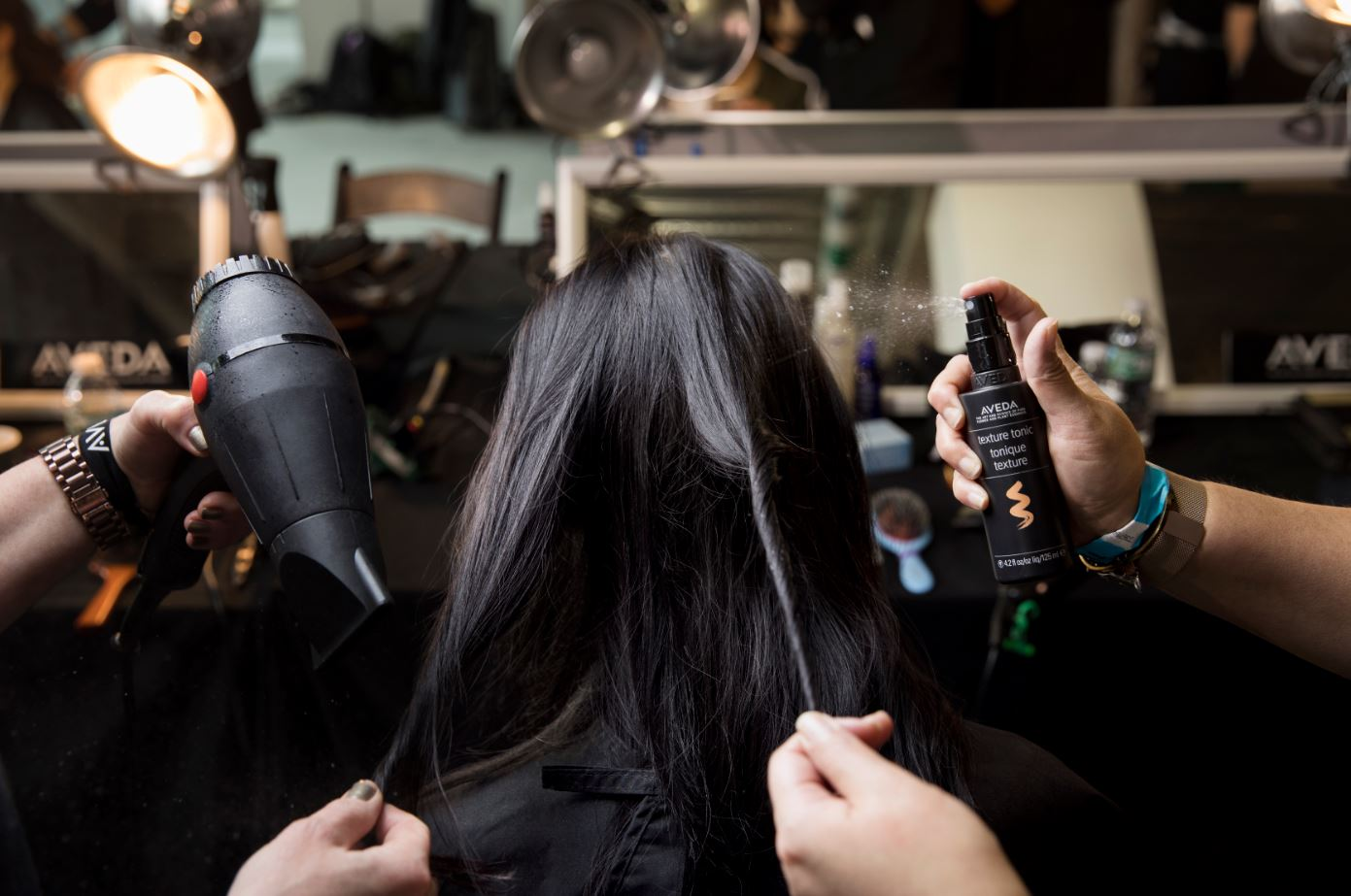 Backstage with Aveda for Tibi NYFW Runway