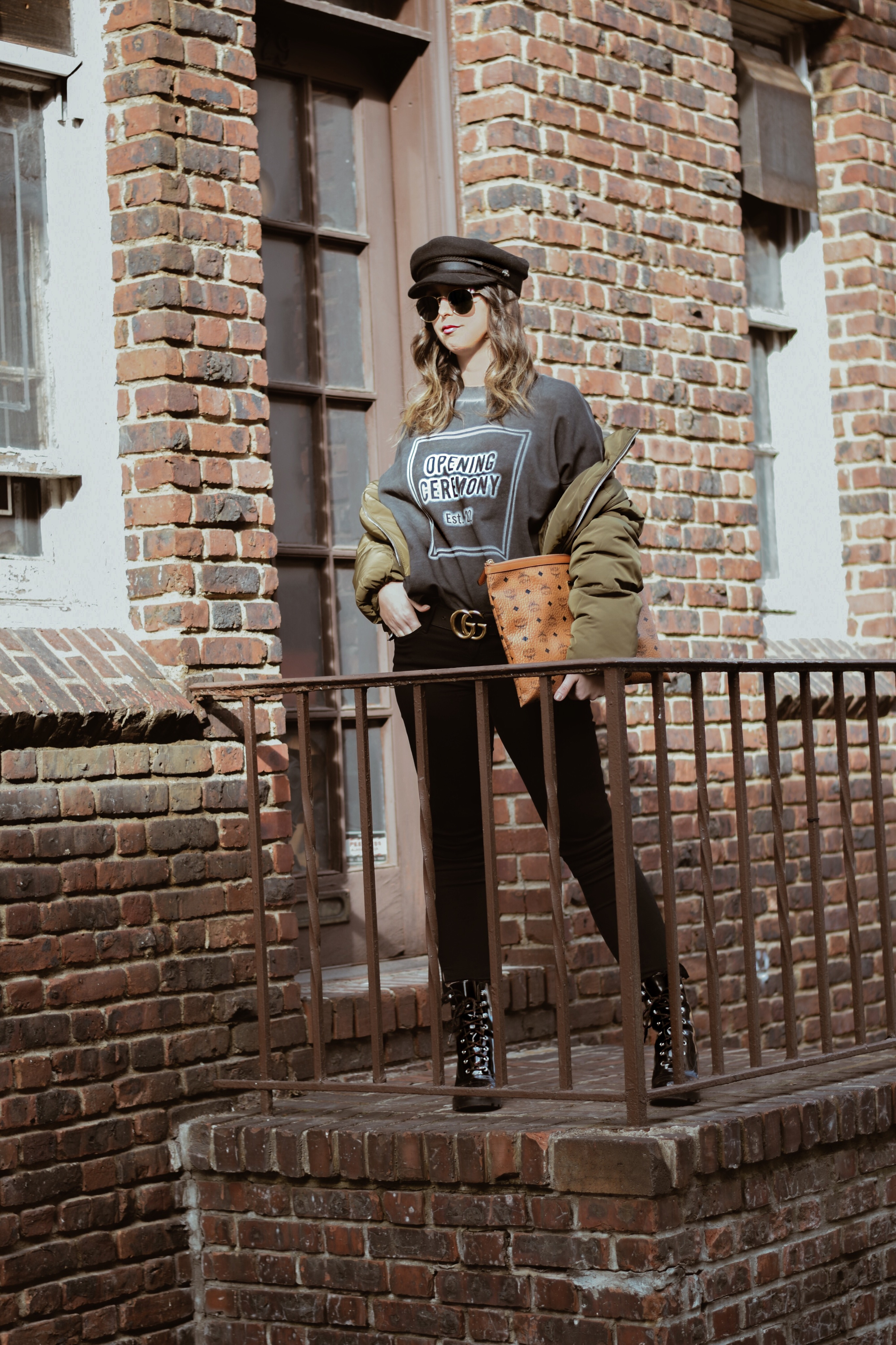 Casual Stylish Pieces-fashion-outfit-puffer jacket-opening cermony-mcm-street style-new york
