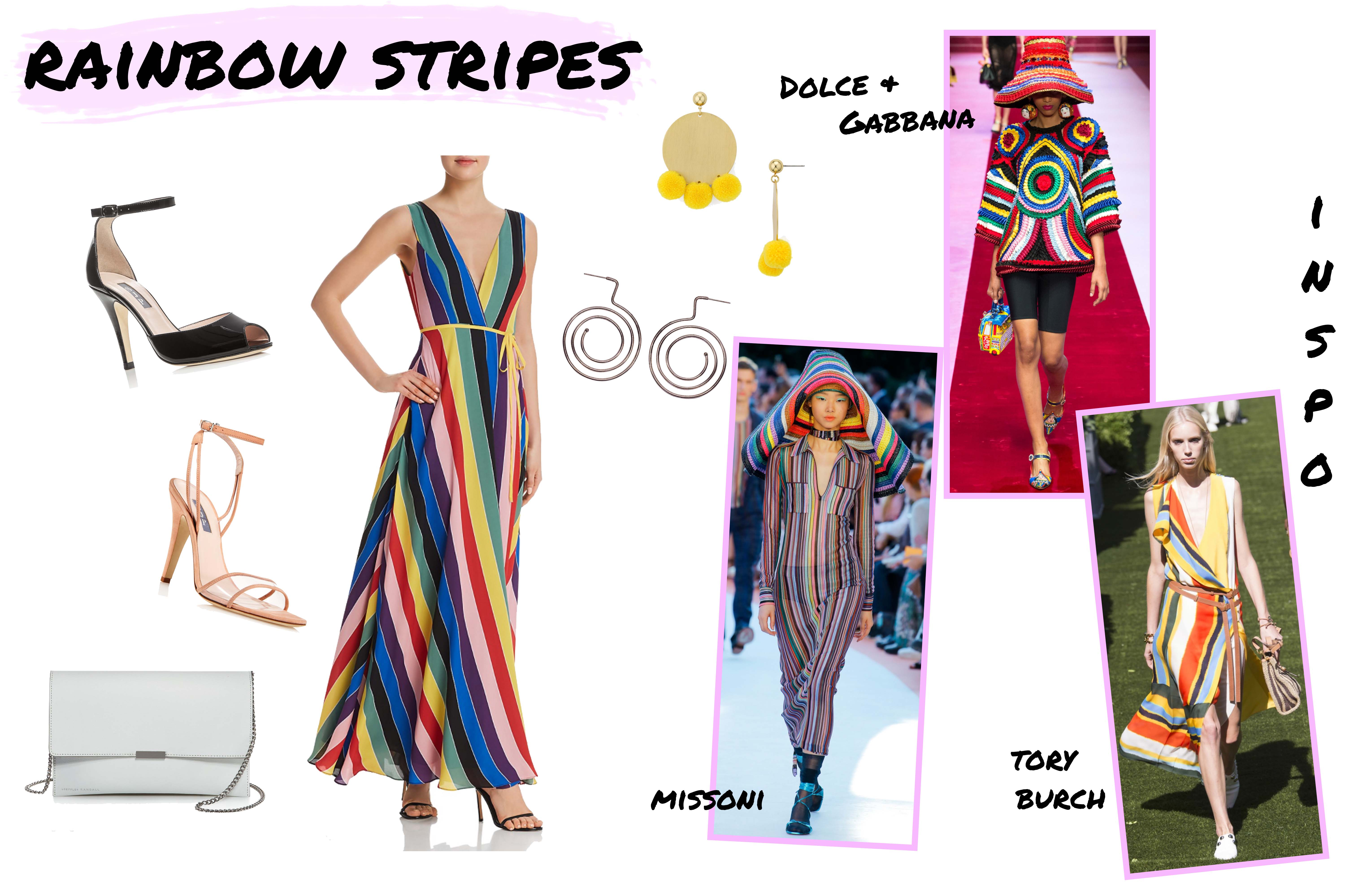 Bloomingdales Hot Fashion Show Rainbow Stripes Spring Trends Mood Board Style Shop The Post Simply By Simone
