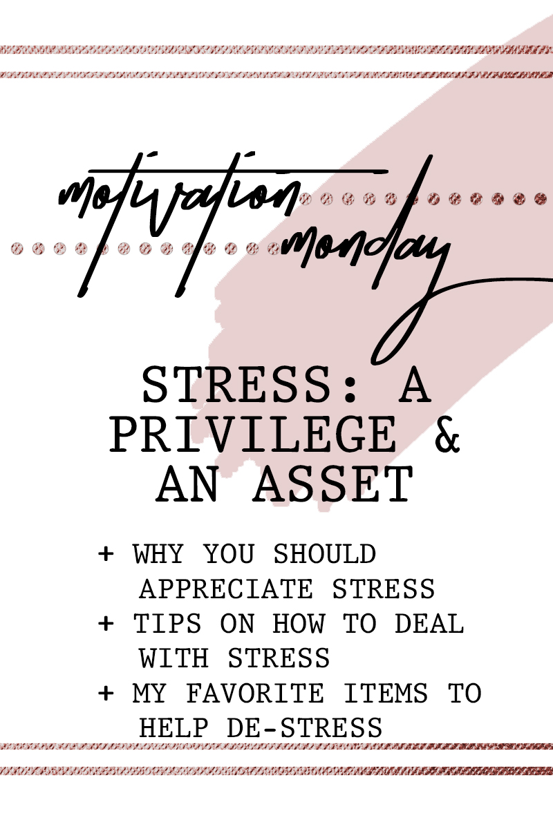 Motivation Monday Stress A Privilege And An Asset Motivation Monday Inspiration Quotes Simply By Simone