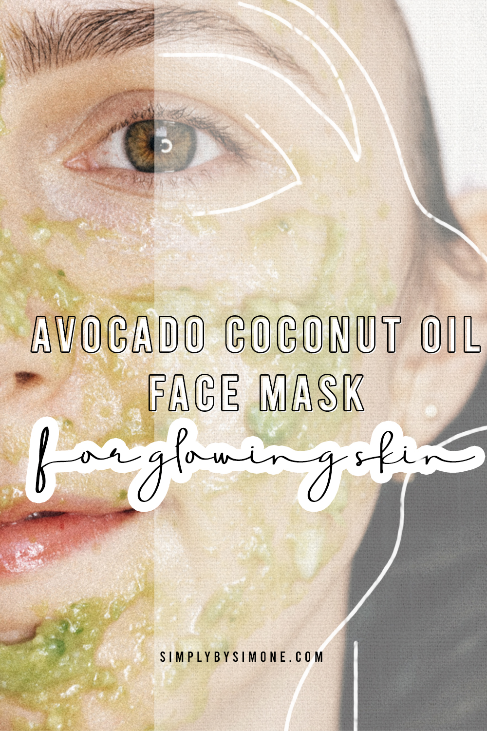 Diy Avocado Coconut Oil Face Mask For Glowing Skin Simply By Simone