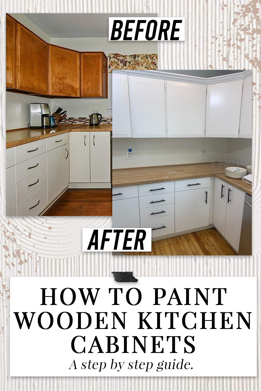 How To Paint Wooden Kitchen Cabinets Step By Step Guide